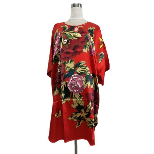 Новое Прибытие Женский Искусственного Шелка Халат Халат Летний Зал Looose Пижамы Элегантная Ночная Рубашка Женщины Сексуальная Ночная Рубашка