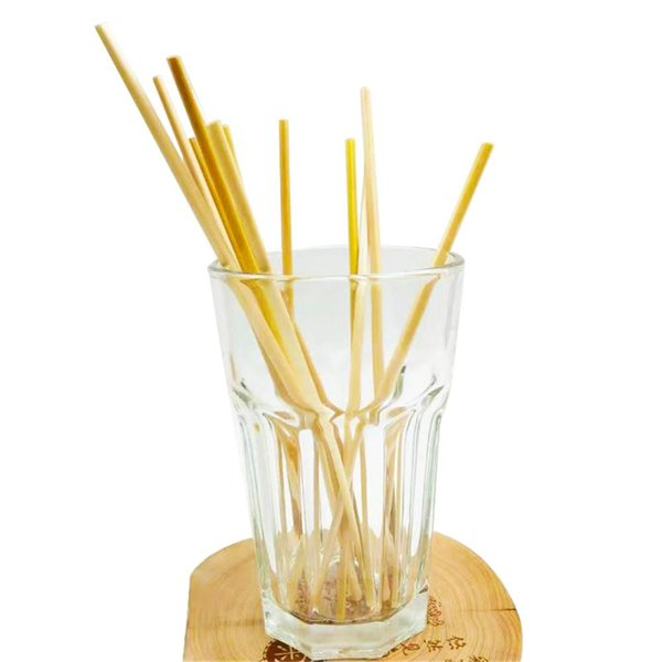 100 PCS Wheat Straw Environmentally Friendly Drinking Straw For Home Party Barware Innovative Bar Accessories