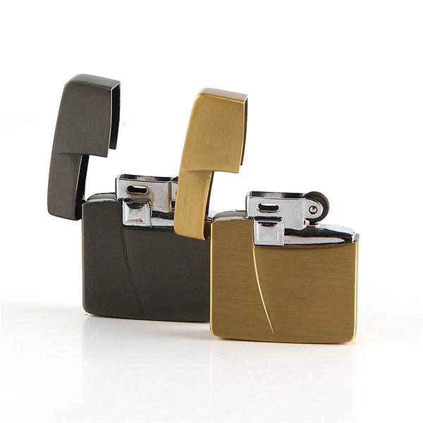 Cigarette accessories Butane Gas Lighter Mini square shape Metal Cigarette Lighter