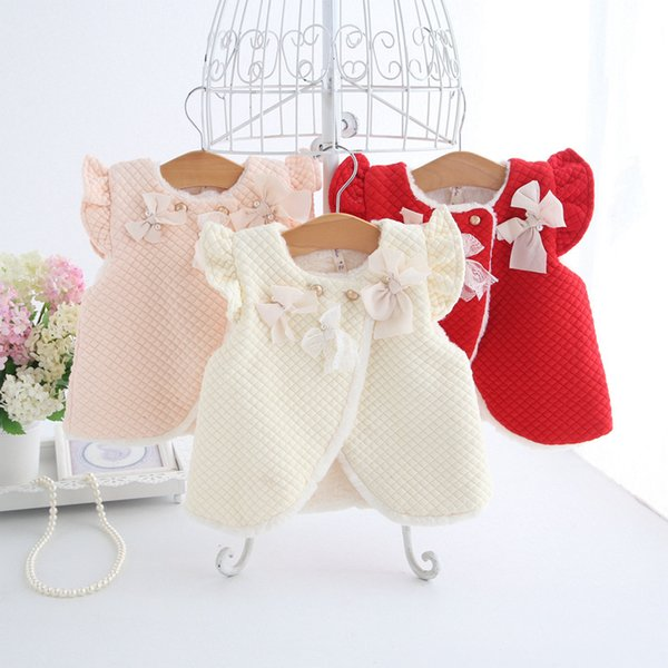 2018 autumn winter children clothing outerwear&coats thick princess girls vest kids jackets baby girl warm waistcoat 0-2t 3color thumbnail
