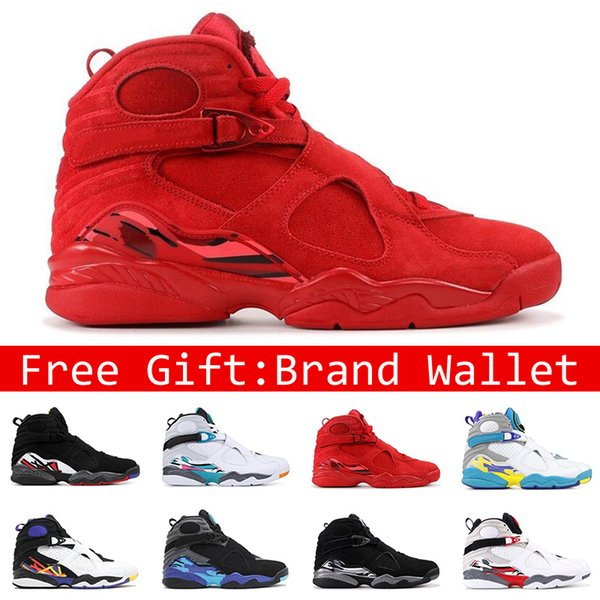 2020 With Box Hot 8s Men Basketball Shoes High Top VALENTINES DAY White Aqua 3PEAT CHROME COUNTDOWN PACK Fashion 8 Mens Sports Sneakers From