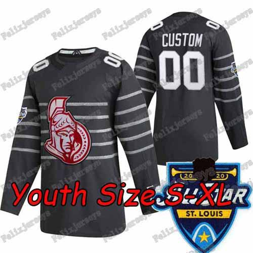 2020 All Star Gris foncé Youth: Taille S-XL