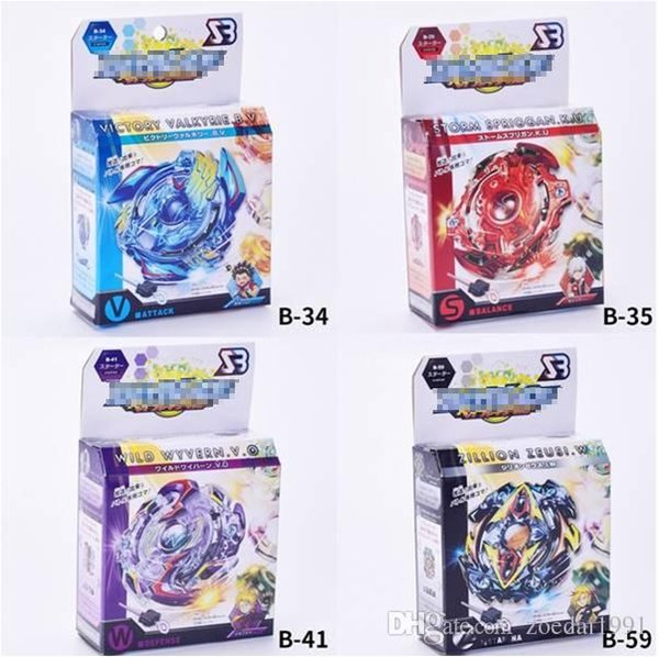 Beyblade Metal Funsion Set Kid Spinner Burst Toys 4D Con Launcher e maniglia Spinning Top Classic Toy Burst Fighting Gyro B34 B35 B41 B59