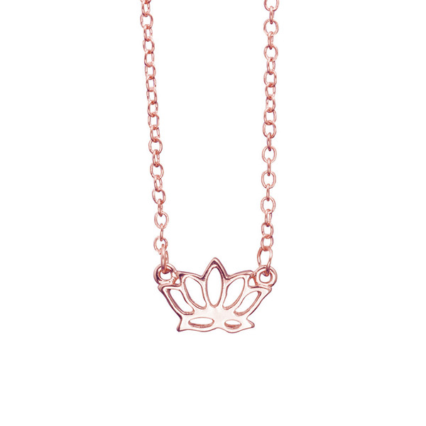Lotus Necklaces wholesale Handmade Jewelry Cheap Beautifully Simple Flower Necklace Gift For Women Yoga Pendant Necklace