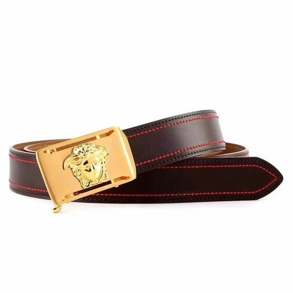 Men's belt 114984 red black Mens Belt Authentic Official Belt With Box