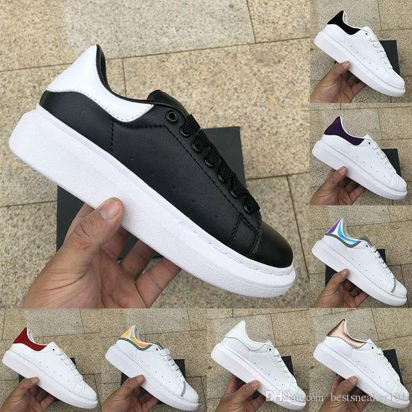 Yeni Sezon Siyah Beyaz yansıtıcı erkek ayakkabı tasarımcısı 2019 moda lüks tasarımcı kadın ayakkabı Parti Platformu rahat spor ayakkabıları Euro 36-44
