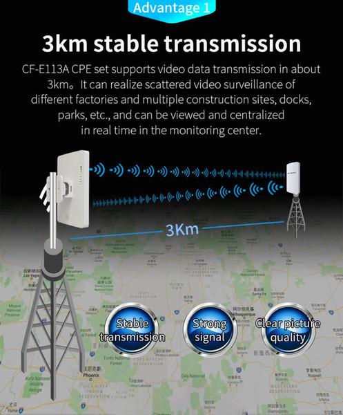2pcs Long distance 5.8G Wireless outdoor router 3KM WDS Network bridge 11dBi Antenna wi fi access
