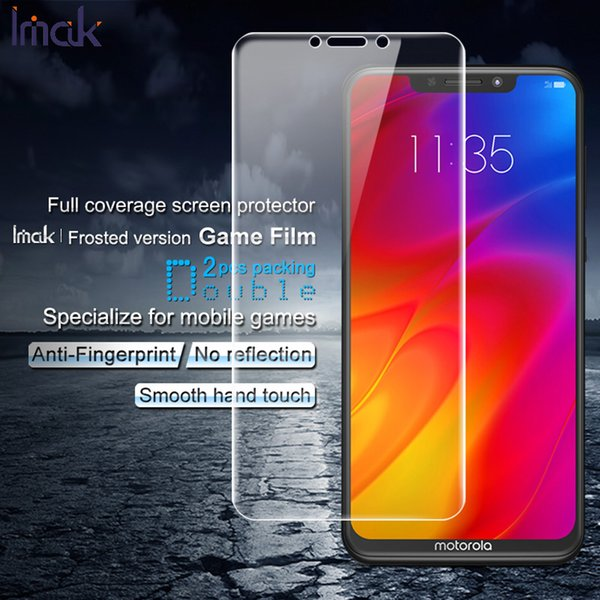 2PCS Films for Motorola P30 IMAK Frosted Hydrogel Game Film Full Covering Anti-scratch Screen Protector Film for Motorola P30