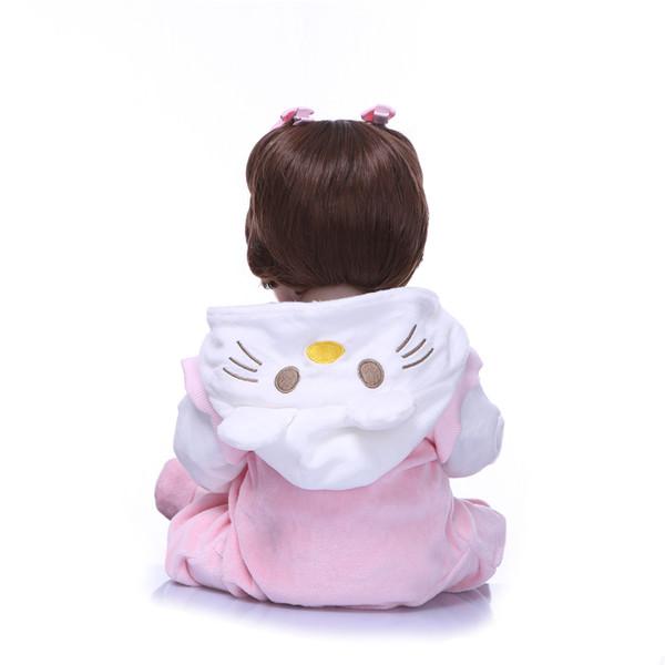 Bebe Reborn Silicone Reborn Dolls Lifestyle Soft Vinyl 48CM Realistic Lifelike Princess Doll Reborn Toys For Girls