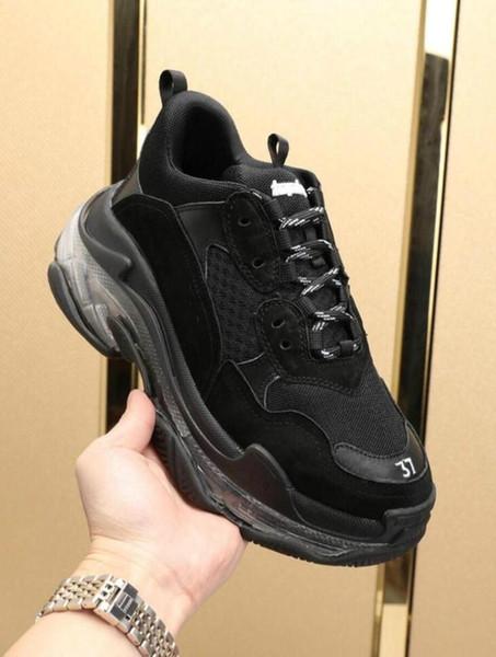 Hombres Mujeres al por mayor comodidad Zapato Casual Triple S Negro Diseñador Low Old Dad Zapatilla de deporte combinación Soles Botas de calidad superior para mujer para hombre