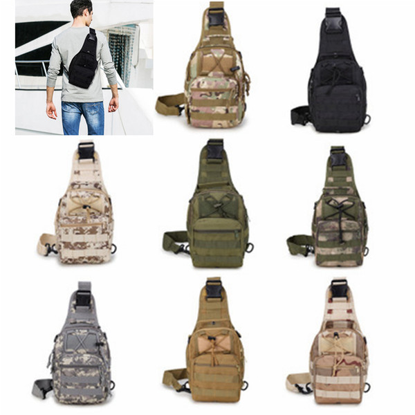 casual tactical chest bags outdoor crossbody bag single shoulder sling bag for mountain climbing camouflage handbag zza685