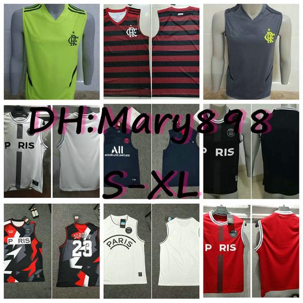 hot best quality 2019 2020 aj Paris vest soccer Jersey shorts 2019 2020 flamengo vest football shirts pants 17 Style S M L XL