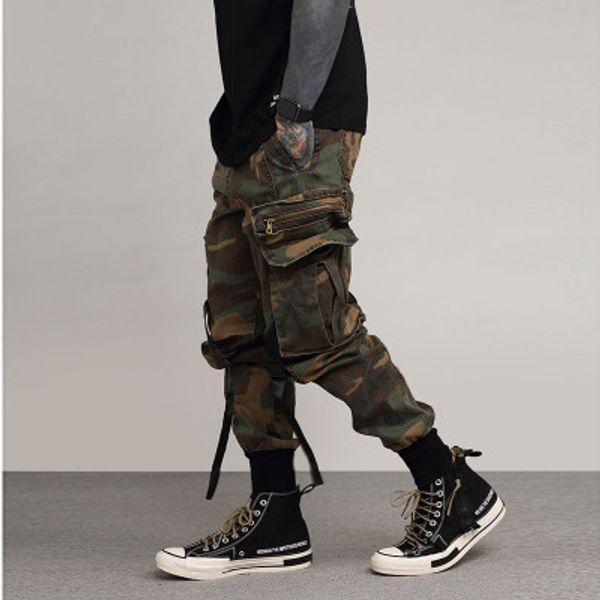 Fashion-Mens Fashion Cargo Pants Mehrfach-Jogginghose Seasons Lässige Camouflage Atmungsaktive Hip Hop Herren Street Pants