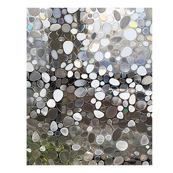 Pellicola di vetro solare elettrostatica 3D anti-calore Pellicola UV per vetri accecante Adesivi statici in vetro opaco per il letto del bagno