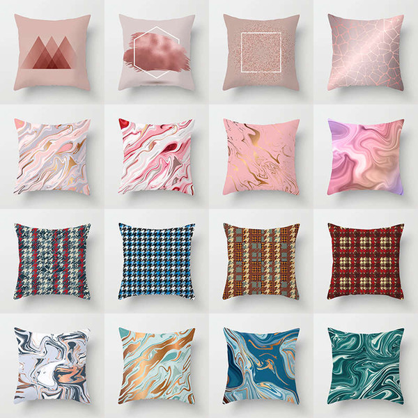 European style heart soul leaf Polyester Peachskin decorative pillowcases throw pillow cover square 45*45cm Pillow Case