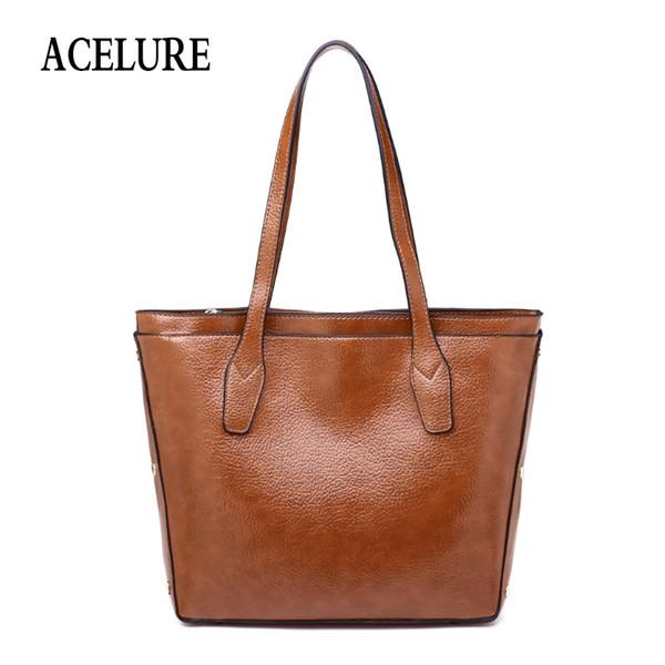 Acelure Taschen Für Frauen Mode Frauen Leder Handtasche Kurze Umhängetaschen Grau / schwarz Große Kapazität Luxus Handtaschen Tragetaschen