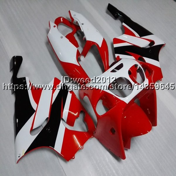 Custom+Screws red white motorcycle article for KAWASAKI ZX7R 1996 1997 1998 1999 2000 2001 2002 2003 motor fairing body kit