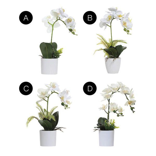 Yapay Kelebek Orkide Simülasyon Çiçek Bonsai İpek Çiçek Saksı Bitki Ev Ofis Masaüstü Süsler Düğün Dekor