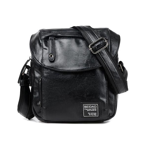 Messenger Bag Men Leather Vintage Shoulder Bag Brand Waterproof Crossbody Bags For Men Handle Men's Bags Hasp Male Handbags