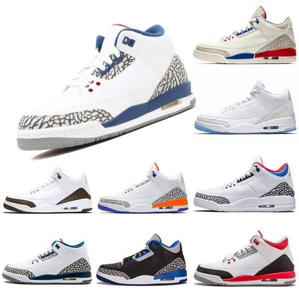 mens trainers designer basketball shoes 3s Knicks Rivals Mocha Katrina Tinker JTH NRG Black Cement Korea Pure White Sport Sneaker 40-47