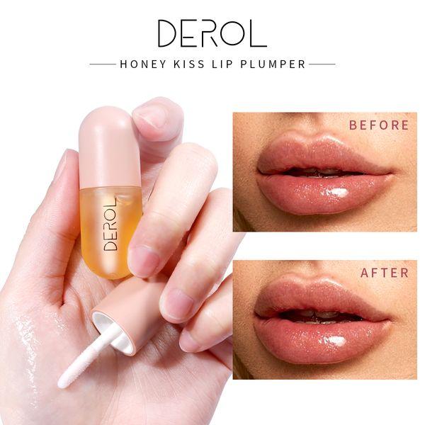 top popular DEROL Lip Balm Moisturizing Lips Beauty Makeup Moisturizer Lip Color Plumper Oil Lip Plumper Mask Makeup 2021