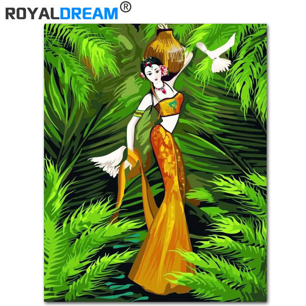 2019 Royaldream My Lady Diy Painting By Numbers Acrylic Paint By Numbers Handpainted Oil Painting On Canvas For Home Decor From Baibuju8 39 3