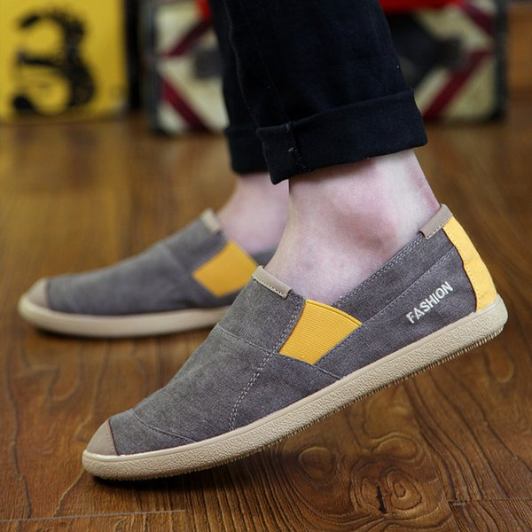 Charming2019 Edition Fervent2019 Autumn One Pedal Dawdler Shoes Tide Male Canvas Ventilation Leisure Time Summer Old Beijing Cloth Shoe