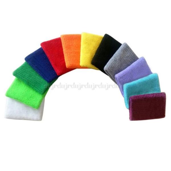 1pc coloré lumineux unisexe sport Bandeaux serviette Sweatband poignet soutien Brace Wraps gardes Au28 19 dropship