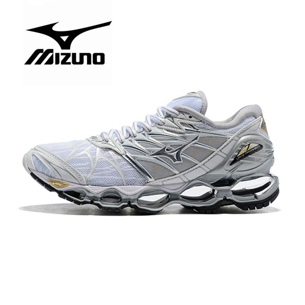 2019 New Original MIZUNO WAVE Prophecy 7 Professional Shoes For Men Women White Black Grey Green Purple Blue Athletic Sports Sneaker Size 36 45 From