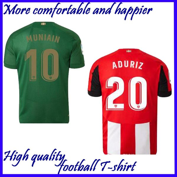 new 19 20 Athletic Bilbao Club Home soccer jerseys 2019 2020 Aduriz Williams Sola Muniain soccer shirts man football uniform