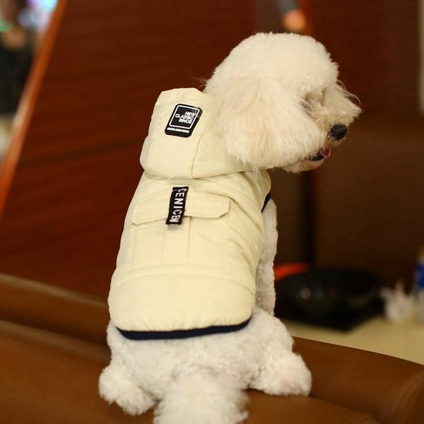 Winter Dog Clothes Detachable Cap Pet Jacket with Pocket Waterproof Cat Dog Jackets Teddy Bulldog Schnauzer Outerwears