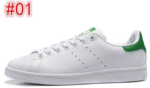 wholesale price smith men women casual shoes green black white blue red pink silver mens stan fashion leather shoe flats sneakers