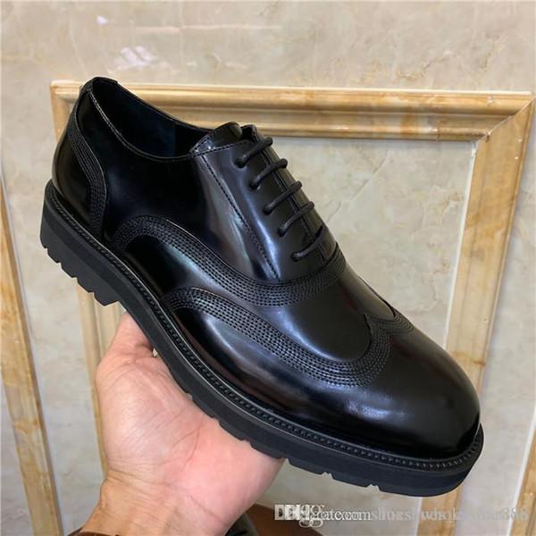 Scarpe da uomo di alta qualità di alta qualità Scarpe casual in pelle lucida Scarpe da uomo a tacco basso alla moda per il tempo libero e le taglie da lavoro 38-45