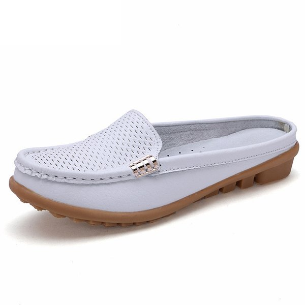 Dropshipping Women Shoes Real Leather Mother Loafers Soft Leisure Flats Female Ladies Driving Ballet Casual Footwear