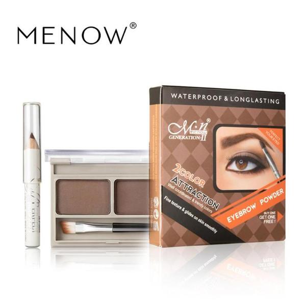 Menow 2 Color Eyebrow Powder Waterproof Eyeliner Pen Brush Eyes Eyebrow Powder Makeup Cosmetics Beauty Tools