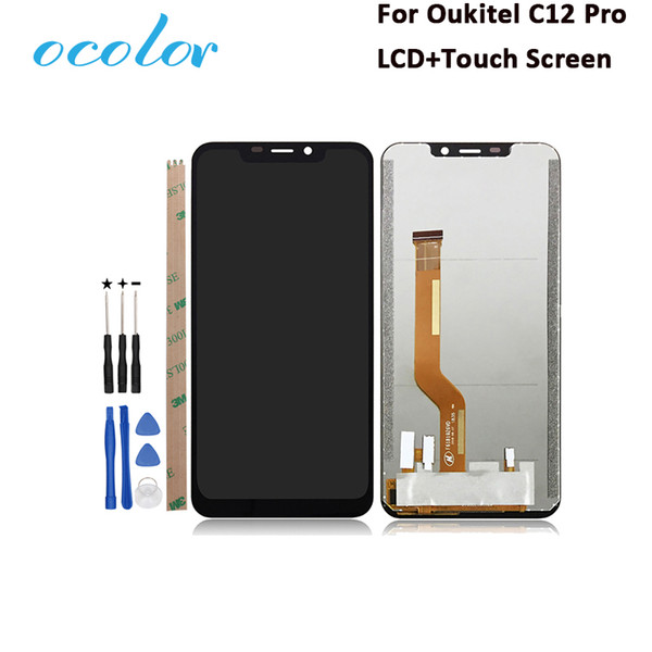 ocolor For Oukitel C12 Pro 100% Tested LCD Display And Touch Screen Replacement For Oukitel C12 Pro Phone With Tools 6.18 Inch