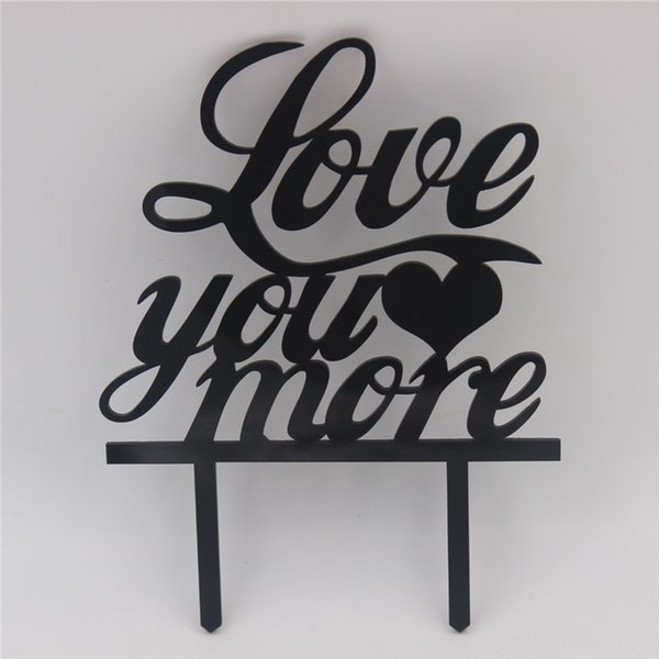 Love You More Acrylic Cake Topper Wedding Gift