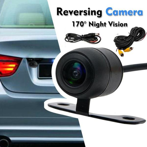 Macchina fotografica di retrovisione di visione notturna impermeabile che inverte parcheggio LCD Image Monitor 170 gradi di visione notturna della parte posteriore dell'automobile macchina fotografica di sostegno