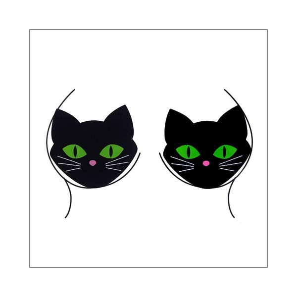 Moda fresca Gato negro Cofre Joyas Escala Mariposa Estampado leopardo Imagen Maquillaje corporal Festival de cristal Tatuaje temporal Diseño de la etiqueta engomada