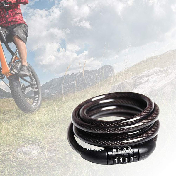 Bicycle Bike Cycle Spiral Steel Cable Lock Security Chain 2 Key
