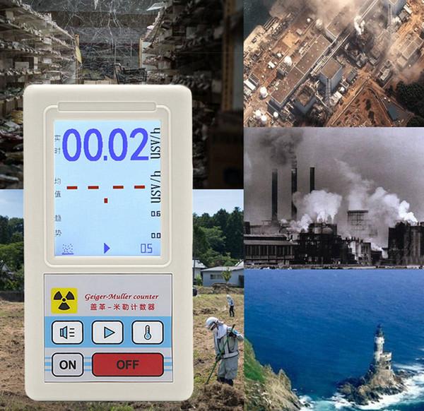 Nuevo contador OOTDTY Dosímetro detector de radiación nuclear Medidor de mármol con pantalla Pantalla Radiador Dosímetro Contadores Geiger