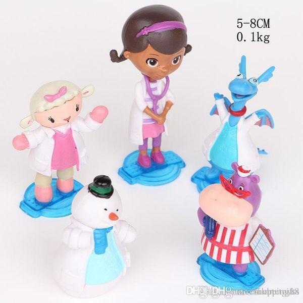 BOM 5 estilo de um conjunto Caçoa o presente venda quente # 519 Brinquedo Médico Clínica Maifen menina Dr. Blue Dragon Ovelhas Hipopótamo BONECAS MODELO preço de fábrica