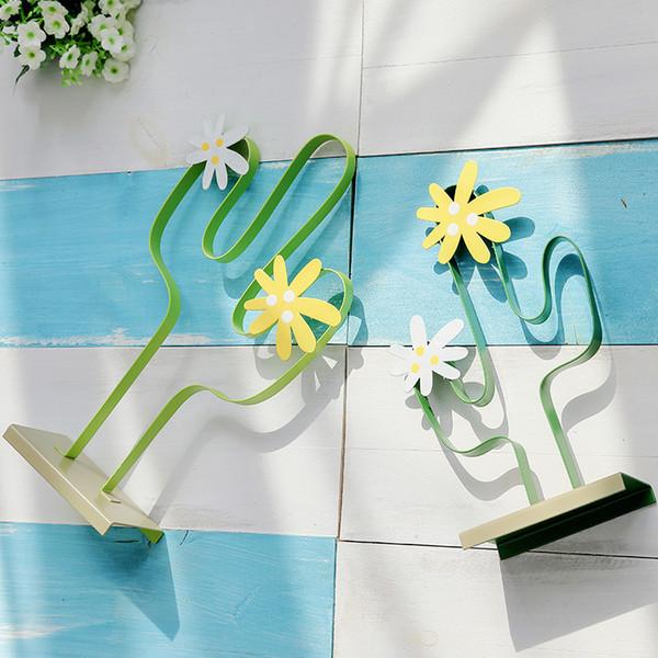 Simples nórdica de hierro plantas de cactus y flores de la planta de Bonsai para la decoración del hogar mesa de oficina plantas de interior de cactus Decoracion