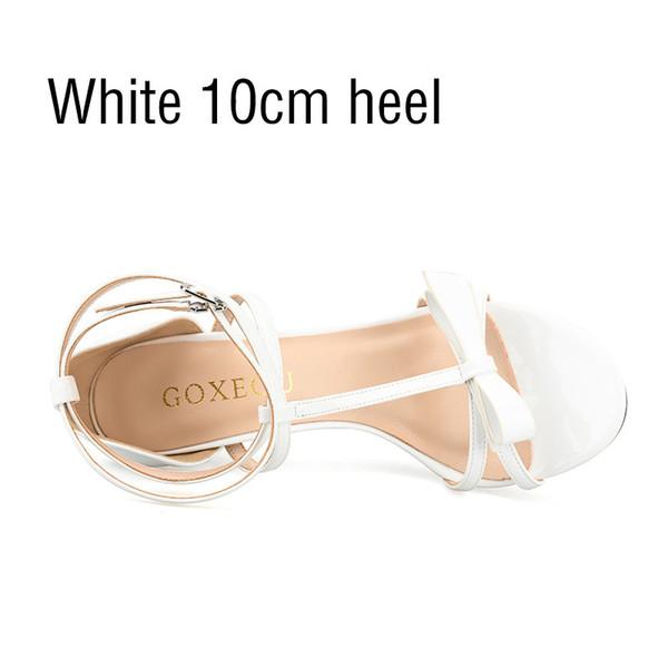 branco 10 centímetros calcanhar