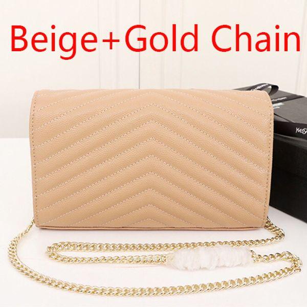 Cadeia bege + Gold (vêm com Y_S_L)
