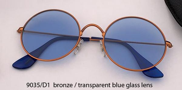 9035 / D1 bronz, altın / kristal mavi