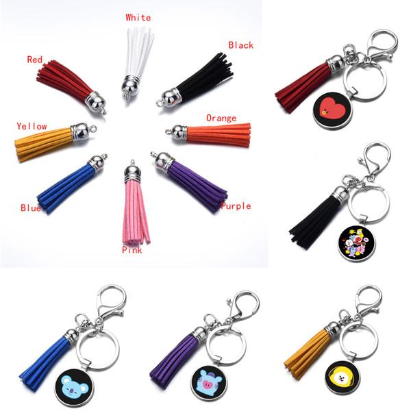 Niedlichen Cartoon Schlüsselanhänger für Mädchen Jungen Kreative Keychain Autoschlüssel Ring Frauen Quaste Schlüsselanhänger 3D Keyfob Handtasche Anhänger Accessorices Geschenk M97F