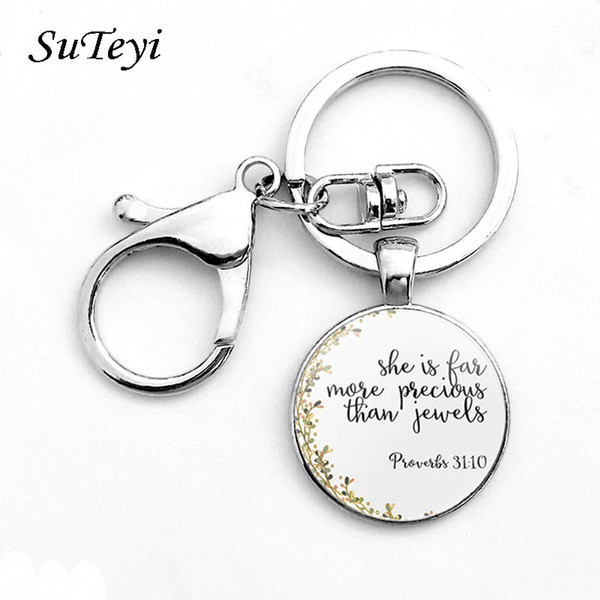 2019 Classic Psalm Quote Key Chain Bible Verse Jewelry Fashion Glass Dome  Flower Letter Christian Jesus God With US KeyChain From Yitesu, $1 49 |