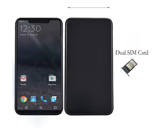 Goophone XS plus Max full screen 6.5 inch Quad Core MTK6580 1GB 8GB HD 13MP 3G Original Dual Sim Cell Phones
