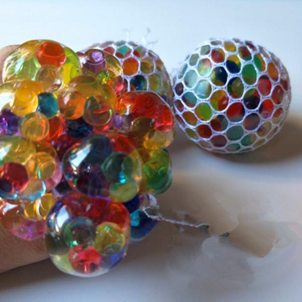 Neuheit Anti-Stress-Mesh-Traubenkugel 6cm Latex Bunte Anti Stress Relief Kugel Autismus Mood Relief Hand Handgelenk Squeeze Spielzeug für große Kinder